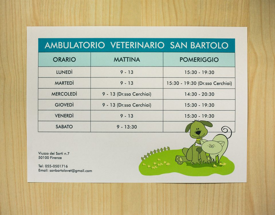 Orari ambulatorio veterinario San Bartolo, Firenze